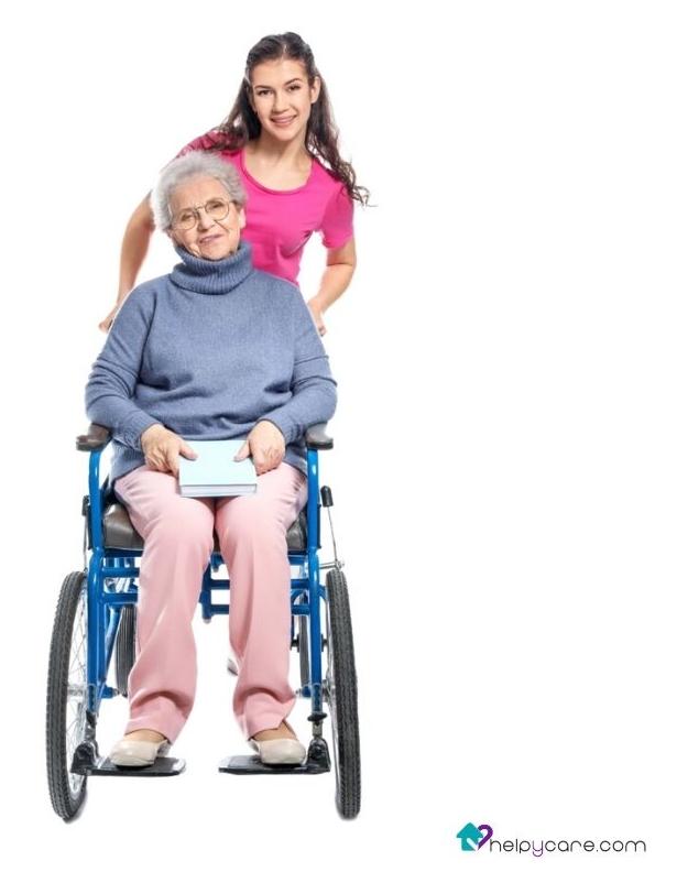 cuidadora a domicilio de ancianas