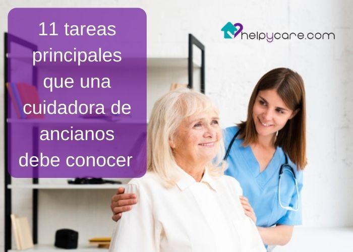 11 tareas principales que una cuidadora de ancianos debe conocer