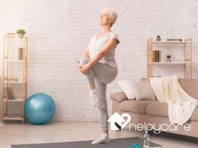 ejercicio equilibrio para adulto mayor Helpycare
